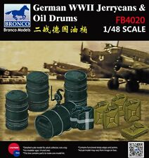 BRONCO FB4020 1/48  WWII German Jerrycans & Oil Drums