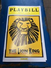 THE LION KING MUSICAL PLAYBILL NEW YORK CITY NY BROADWAY 2016
