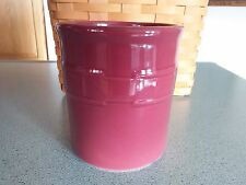 Longaberger Pottery 1 one quart qt Crock in Paprika red NEW in box