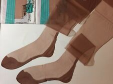 11 X 36 3 Pairs Cuban Seamed Stockings Full Fashioned Vintage Pedestal Nylons ��