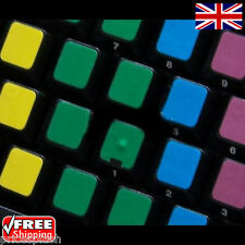Blank Learning Multi-Coloured Keyboard Stickers Laptop Notebook PC Computer