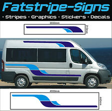 4m MOTORHOME VINYL GRAPHICS STICKERS DECALS STRIPES SET CAMPER VAN FIAT DUCATO