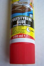 1 x 250ml NEW ADHESIVE GLUE FOR STYROFOAM, POLYSTYRENE ELASTIC WATER RESISTANT