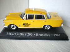 MERCEDES 200 TAXI DE BRUXELLES de 1962  IXO 1/43 neuf en boite K18