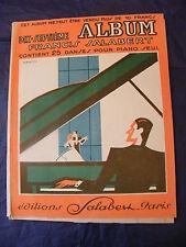 Partition 17 ème Album Francis Salabert 1934  Music Sheet Grand Format