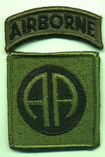 Vietnam Era US Army 82nd Airborne Subdued Patch W/Tab