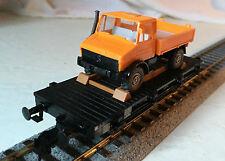 HO Fleischmann Flat  w/truck, type Xf19 of the DB ref# 5218 really nice w/case