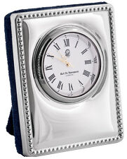 MINIATURE DESK CLOCK STERLING SILVER 925 HALLMARKED NEW FROM ARI D NORMAN
