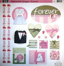 """We R Memory Keeper Scrapbook Paper 12"""" Embossed Wedding Designs Card Invitations"""