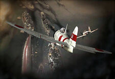 Pearl Harbor Attack - Japanese Zero Airplane - War A3 Art Poster Print