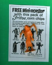 "VINTAGE MPC MONSTER   ""COOL GHOUL""  FRITOS+COPY OF AD"