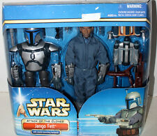 "STAR WARS 12""JANGO FETT W/MISSILE LAUNCHING BACKPACK ATTACK OF THE CLONES HASBRO"