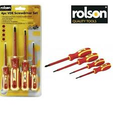ROLSON 4pc VDE Insulated Screwdriver Set 1000V AC Rated Slotted Phillips   AB35