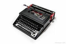 BLACK OLIVETTI LETTERA DORA - mint condition portable manual working typewriter