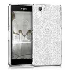kwmobile Schutz Hülle für Sony Xperia Z1 Compact Barock Weiß Crystal Case Cover