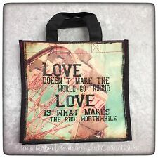 NATURAL LIFE GIFT BAG LOVE  MADE FROM 80% RECYCLED PLASTIC BOTTLES NEW