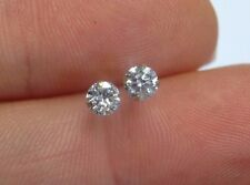 Sparkling! .24CT Natural Diamond 14K Yellow Gold Martini Earring Studs