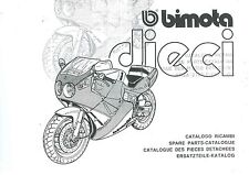 CATALOGO RICAMBI BIMOTA DIECI YB10  COPY SPARE PARTS CATALOGUE MULTILANGUAGES