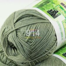 Sale New 1 Skein X 50g SUPER Soft Natural Smooth Bamboo Cotton Knitting Yarn D