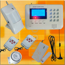 433MHz Wireless GSM PSTN Home Security Burglar Alarm System Auto Dialer SMS Call