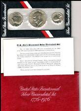1776 - 1976 S BICENTENNIAL  40% SILVER EISENHOWER * IKE * 3 COIN MINT SET