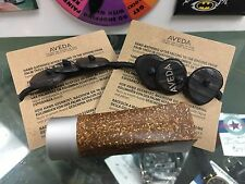 classic AVEDA lipstick case & 2 TAGUA NUT PONY TAIL HOLDERs set GREAT FOR TRAVEL