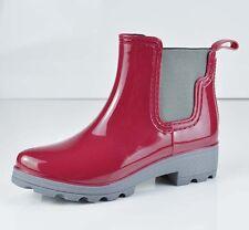 Women's Rain Ankle Boots Rubber Plush Lining Elastic Waterproof Short Garden
