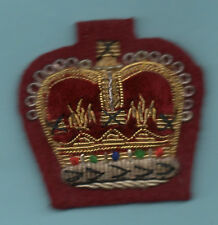 BRITISH ARMY- MESS DRESS  No1 DRESS G& S WIRE -  CROWN  RANK BADGE ON MAROON