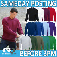 FOTL RAGLAN SWEATSHIRT PLAIN BLANK MEN ADULT SWEATER WORK SCHOOL JUMPER 62216