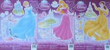 Walt Disney Princess Bedroom Stickers Set of 3 Cinderella Aurora  Belle NEW