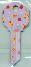 CUP CAKES AND CHERRIES PRINT KEY BLANKS KW-1
