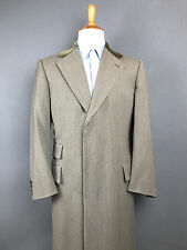 Belvest Covert Coat Wool Chesterfield Top Coat Mens Over Coat Sz 50 / 40