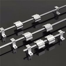 200/600/800mm x 8mm Linear Rail Shaft Rod with Bearing Guide Support and SC