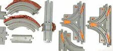 Geotrax Lot of Gray Track From Boulder Set,Switching, Curves, Turnouts, Crossing