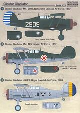Print Scale Decals 1/72 GLOSTER GLADIATOR Fighter In International Service