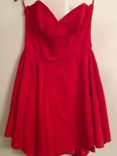 Robe Bustier Rouge Xl - 42
