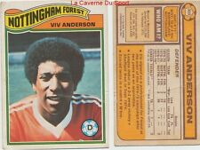 302 VIV ANDERSON # ENGLAND NOTTINGHAM FOREST CARD PREMIER LEAGUE TOPPS 1978
