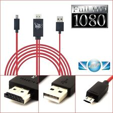 Micro USB MHL to HDMI Cable adapter HDTV for HTC One M7 M8 M9