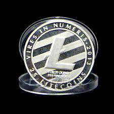 Silver Plated 25 Litecoin Coins Vires in Numeris Commemorative Coin Collection