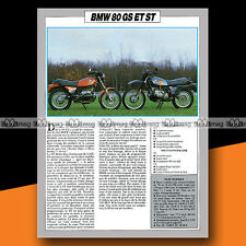 ★ BMW R 80 GS & R80 ST ★ 1984 Essai Moto / Original Road Test #a687