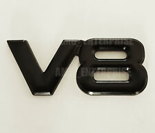 BLACK Chrome 3D 100% Metal V8 Square Badge Emblem for Cars Vans SUV Trucks Quads