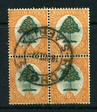 South Africa 1926 KGV 6d Orange Tree BLOCK 4 SG 32 used CV £96
