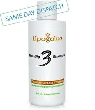 LIPOGAINE THE BIG 3 HAIR LOSS & ANTI DHT 1% KETOCONAZOLE SHAMPOO FOR MEN & WOMEN