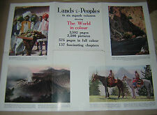 LANDS & PEOPLES. 1929 PROMOTIONAL ADVERTISING MATERIAL FOR SET OF BOOKS.