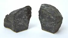 Vintage Heavy Black Granite Bookends