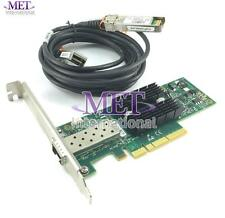 LOT OF 5 MNPA19-XTR MELLANOX 10GB CONNECTX2 ETHERNET CARD HIGH PROFILE W/ CABLE
