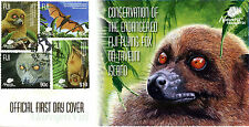 Fiji 2015 FDC Flying Fox Foxes on Taveuni Island 4v Cover Bats Stamps