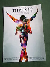JAPAN - FLYER/CHIRASHI -THIS IS IT - MICHAEL JACKSON