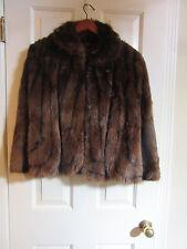 Vintage 50s Brown Mink Fur Cape Draped Stole Coat Jacket