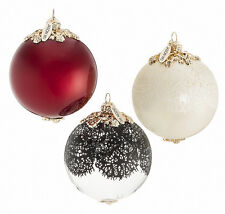 NIB Jason Wu for Target Neiman Marcus Glass Ornament Set of 3